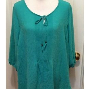 Catherines Top 18/20WP Petite Green Emerald Solid